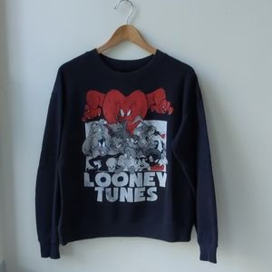 Looney Tunes Sweatshirt Cartoon Graphic Medium